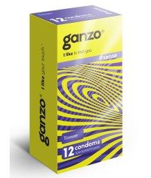 Ультратонкие презервативы Ganzo Sense 12шт