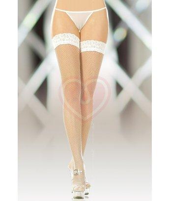 Чулки в мелкую сетку Soft Line Collection белые
