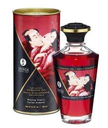 Съедобное массажное масло Shunga Пылающая вишня 100мл