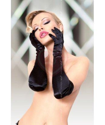 Перчатки длинные Soft Line Collection чёрные