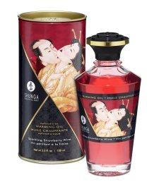 Съедобное массажное масло Shunga Клубника и шампанское 100мл
