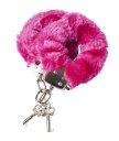 Наручники с мехом розовые