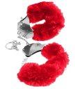 Меховые наручники Pipedream Original Furry Cuffs красные