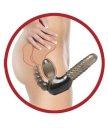 Безремневой анатомический страпон с анальной стимуляцией Pipedream Strapless With Anal