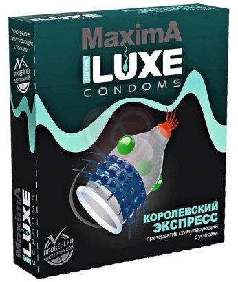 Презерватив Luxe maxima Королевский экспресс с усиками и шариками