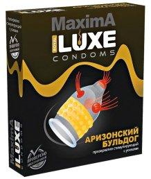 Презерватив Luxe maxima Аризонский Бульдог с усиками и шариками 1шт