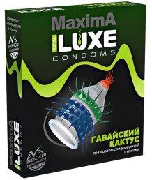 Презерватив Luxe maxima Гавайский Кактус с усиками 1шт