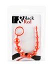 Анальная цепочка ToyFa Black&Red 30 см красная