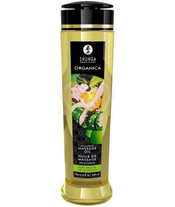 Органическое массажное масло Shunga Organica с ароматом зеленого чая 250мл