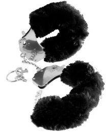 Меховые наручники Pipedream Original Furry Cuffs чёрные