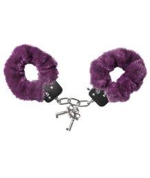 Наручники с мехом фиолетовые