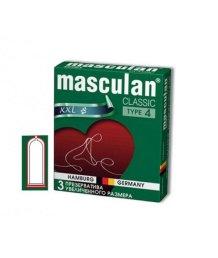 Презервативы увеличенного размера Masculan Classic XXL 3шт