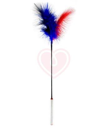 Перышко для щекотания Sitabella с натуральными перьями и металлической ручкой