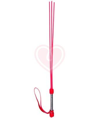 Стек-розги Sitabella с 3 хлыстами 62см красный