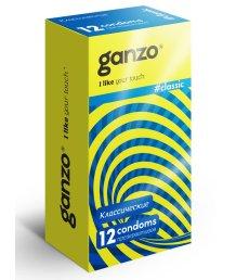 Презервативы Ganzo Classic классические с обильной смазкой 12шт
