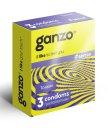 Тонкие презервативы Ganzo Sense 3шт