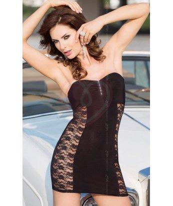 Платье с ажурными вставками по бокам Soft Line Collection чёрное