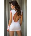 Платье медсестры на молнии и перчатки