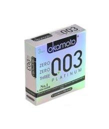 Супер тонкие презервативы Okamoto 003 Platinum 3шт