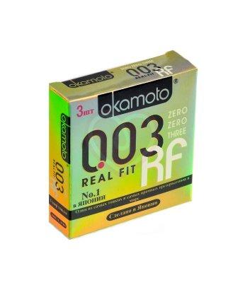 Супер тонкие презервативы Okamoto 003 Real Fit особой облегающей формы 3шт
