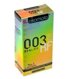 Супер тонкие презервативы Okamoto 003 Real Fit особой облегающей формы 10шт