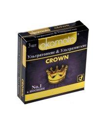 Ультратонкие и ультрамягкие презервативы Okamoto Crown 3шт
