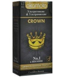 Ультратонкие и ультрамягкие презервативы Okamoto Crown 12шт