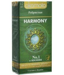Ребристые презервативы Okamoto Harmony 12шт