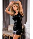Платье c wetlook-эффектом чёрное O/S