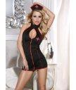 Костюм медсестры (платье, стринги и головной убор) чёрный O/S
