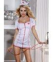 Костюм медсестры (платье, стринги, головной убор и стетоскоп) белый O/S