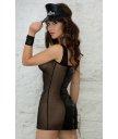 Костюм сексуальной полицейской в платье чёрный