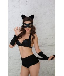 Костюм сексуальной чёрной кошечки