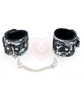 Кружевные наручники ToyFa Marcus серебряные