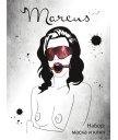 Кружевной набор с маской и кляпом ToyFa Marcus красного цвета