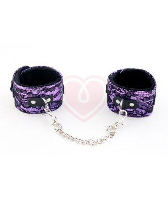Кружевные поножи ToyFa Marcus фиолетовые