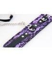 Кружевной набор с ошейником и наручниками ToyFa Marcus фиолетовый