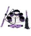 Кружевной набор с аксессуарами для бондажа ToyFa Marcus фиолетовый
