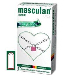 Ультра прочные презервативы Masculan Ultra strong с обильной смазкой 10шт