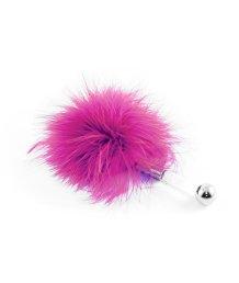Щекоталка с пушистым мехом и прозрачной ручкой ToyFa Theatre розовая