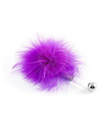 Щекоталка с пушистым мехом и прозрачной ручкой ToyFa Theatre фиолетовая