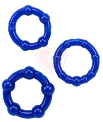 Набор из трех эластичных колец ToyFa A-Toys синие