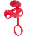 Насадка на пенис с клиторальным стимулятором ToyFa Black&Red красная