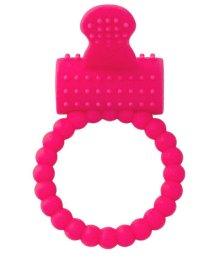 Виброкольцо со стимулятором клитора ToyFa A-Toys розовое