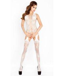 Костюм-сетка с маленькими вырезами Passion Erotic Line белый