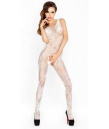Костюм-сетка с ажурным рисунком Passion Erotic Line белый