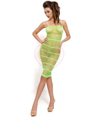 Платье-сетка с полосками Passion Erotic Line зеленое