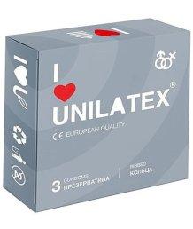 Ребристые презервативы Unilatex Ribbed 3 шт