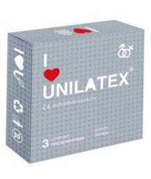 Рельефные точечные презервативы Unilatex Dotted 3 шт