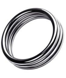 Тройное металлическое кольцо на пенис ToyFa Metal размер L